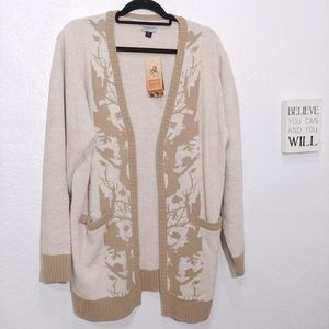 Legendary whitetails Open front Cardigan New